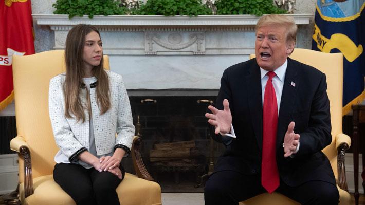 Trump se reúne con la esposa de Guaidó en la Casa Blanca y critica llegada de contingente ruso a Venezuela