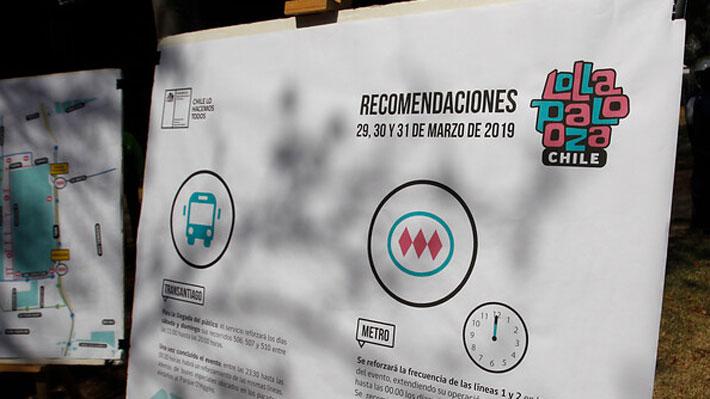 Red Metropolitana anuncia reforzamiento de buses y Metro por festival Lollapalooza