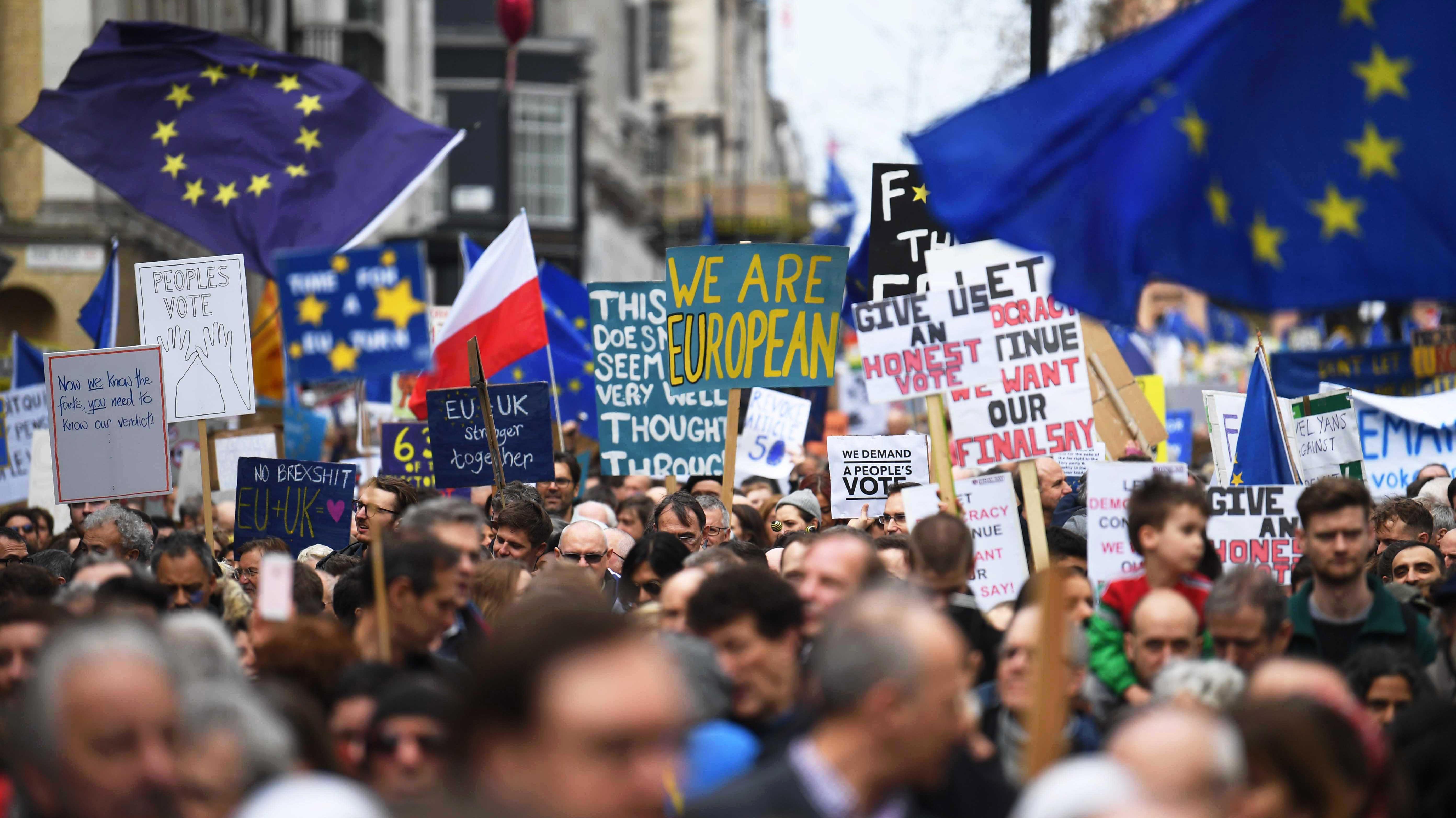 Petición ciudadana para cancelar el Brexit supera los seis millones de firmas