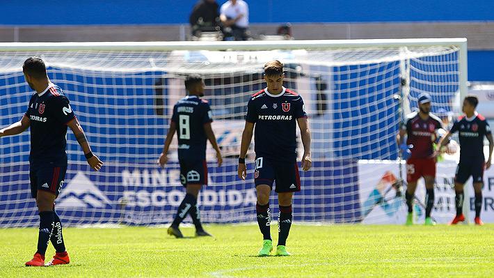 La U pierde con Antofagasta y sigue sin sacudirse de su crisis al sumar tres derrotas en línea en el Torneo