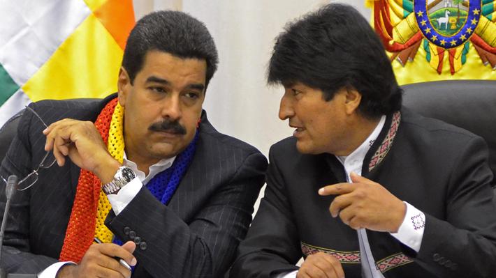 """Evo Morales no se siente """"aislado"""" de la región a pesar de apoyar públicamente al Gobierno de Nicolás Maduro"""