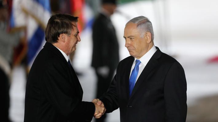 Bolsonaro anuncia que Brasil abrirá oficina diplomática en Jerusalén y firma convenios de defensa y tecnología