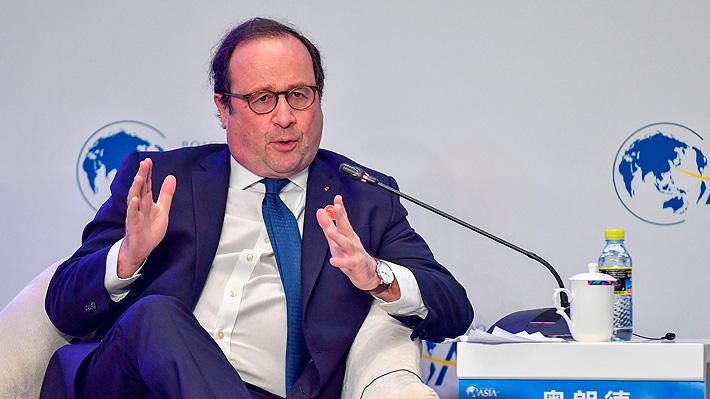 """Hollande critica la gestión de Macron en Francia:  """"Al querer cambiarlo todo, todo se ha paralizado"""""""