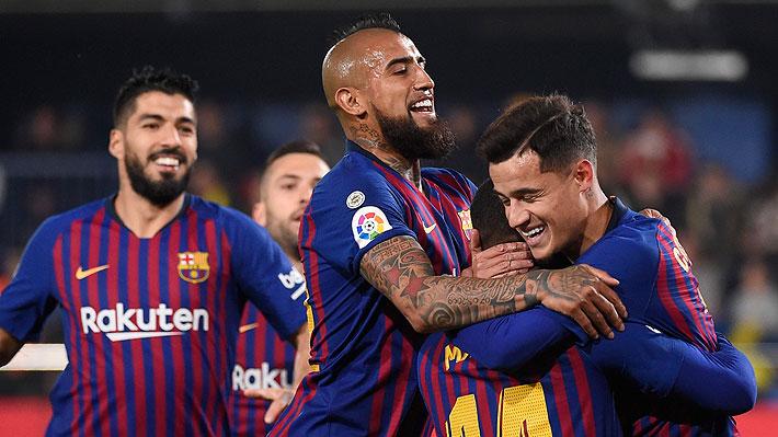 Mira la gran asistencia de Vidal con la que Malcom anotó para el Barcelona ante el Villarreal