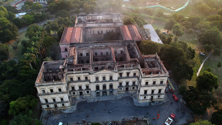 Policía informa que el incendio del Museo Nacional de Río comenzó en el aire acondicionado