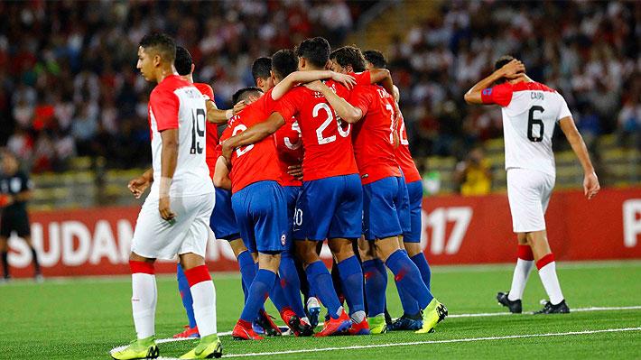 """La """"Roja"""" derrota en un sufrido partido a Perú, queda líder del hexagonal y muy cerca de clasificar al Mundial Sub 17"""