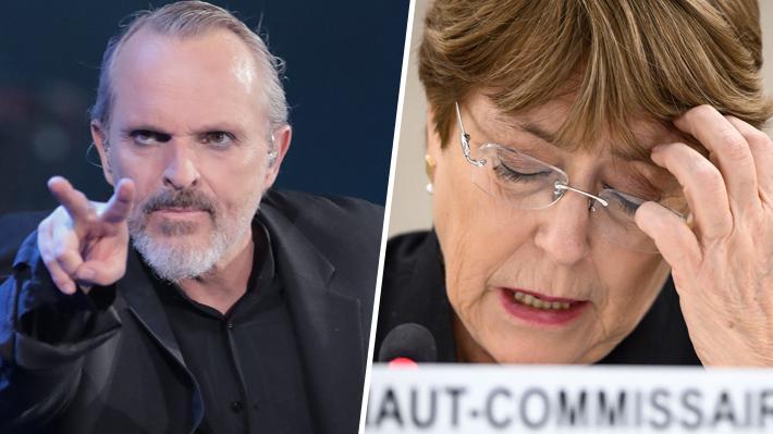 """La """"pesadilla"""" de Bosé con Bachelet: Vuelve a increparla por no viajar a Venezuela"""