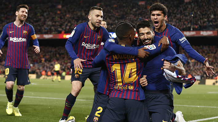 Barcelona sepulta al Atlético de Madrid con dos goles sobre el final y ya acaricia el título de la Liga