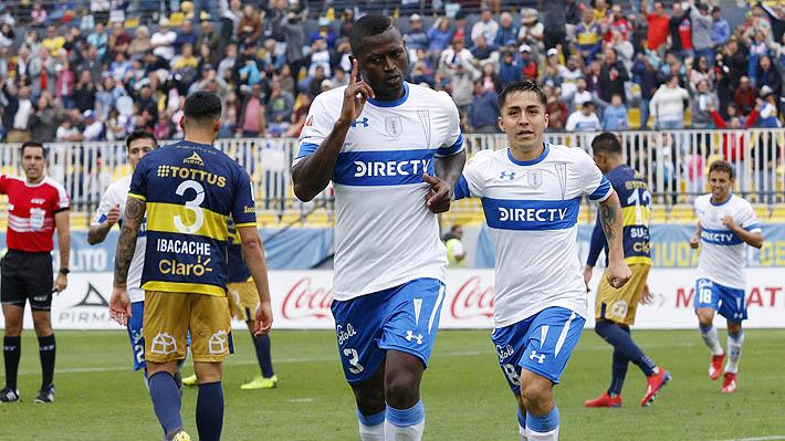 Con gol del criticado Duvier Riascos, Universidad Católica venció a Everton y quedó momentáneamente como líder del torneo