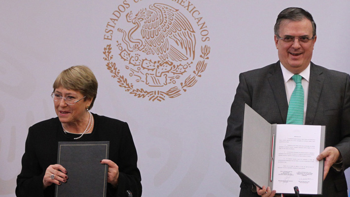México firma con Bachelet acuerdo de asesoría para hallar a desaparecidos de Ayotzinapa