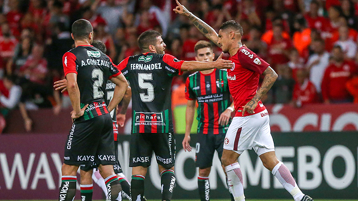 Palestino muestra personalidad, pero termina cayendo ante Internacional en un partidazo por Copa Libertadores