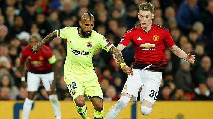 Vidal jugó en triunfo de Barcelona ante el United que lo deja con la 1.era opción para avanzar a semis de Champions