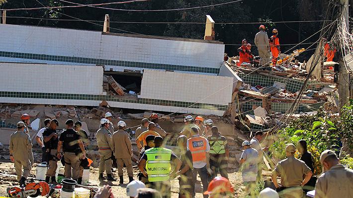 Derrumbe de dos edificios en Río de Janeiro deja al menos dos fallecidos