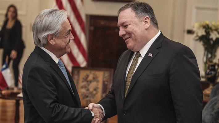 Piñera aborda guerra comercial con Pompeo y le reitera que Chile no apoya una intervención militar en Venezuela