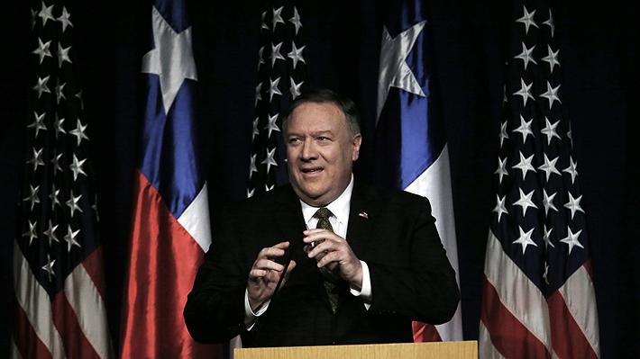 """Mike Pompeo advierte a Chile sobre China y Huawei: """"Esa infraestructura presenta riesgos a los ciudadanos de tu país"""""""