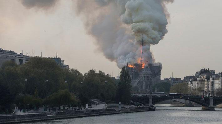 Incendio de gran intensidad en la catedral de Notre Dame genera alerta en París