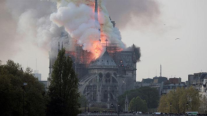Revive el tiempo real del incendio que afectó a la catedral de Notre Dame en Francia