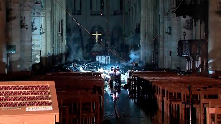 Fotos: Así quedó Notre Dame después del incendio
