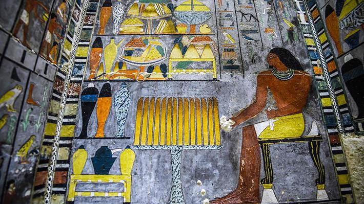 Fotos: Egipto presenta tumba con inusuales y vívidos colores,  incluso después de 4.300 años