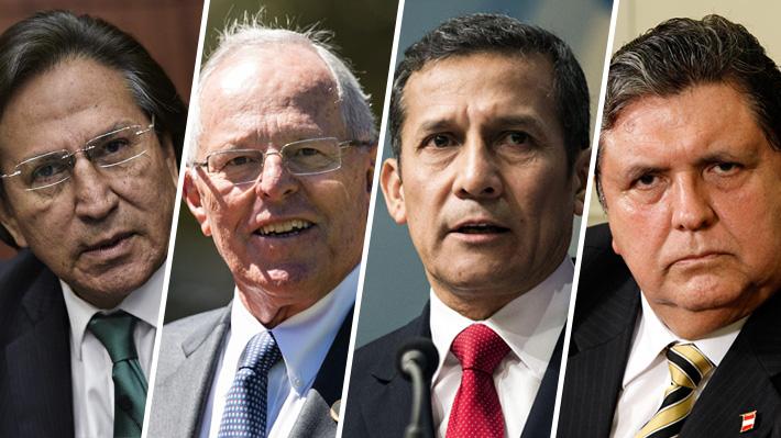 Cuáles son las razones por las que están siendo investigados cuatro ex presidentes de Perú