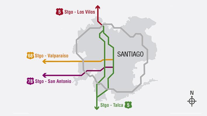 Se acaba el fin de semana largo: Revisa aquí las medidas que se tomarán este domingo para volver a Santiago