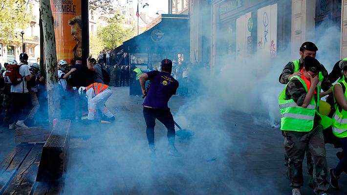 """Nueva jornada de violencia en Francia y van al menos 137 detenidos por protesta de los """"chalecos amarillos"""""""