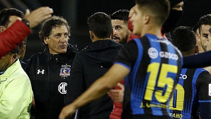 """Mario Salas explota contra el árbitro al término del duelo de Colo Colo y alega que el empate de Huachipato """"fue fuera de tiempo"""""""
