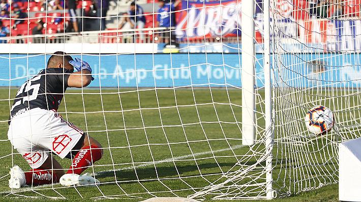 Mira el grueso error de Johnny Herrera que le costó un gol a la U en el empate ante Curicó