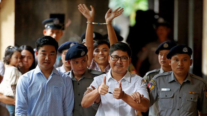 Rechazan último recurso de apelación de periodistas condenados a siete años de prisión en Myanmar
