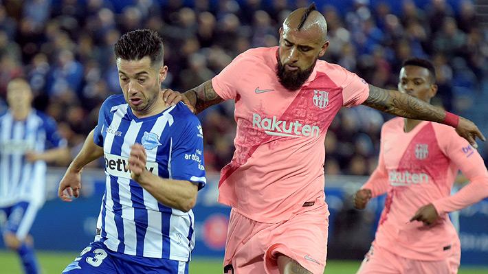 Vidal fue una de las figuras en triunfo que deja al Barcelona cada vez más cerca del título de la Liga de España