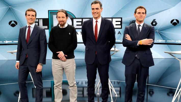 España: Candidatos presidenciales chocan en último debate a cinco días de las elecciones
