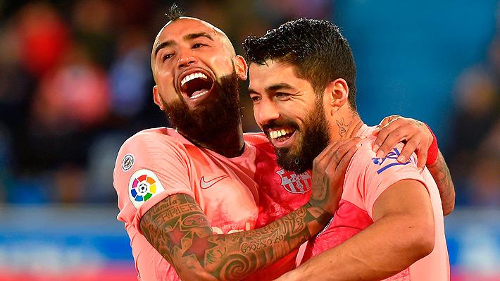 """Prensa española otra vez destacó a un """"incansable"""" Arturo Vidal tras nuevo triunfo del Barcelona"""
