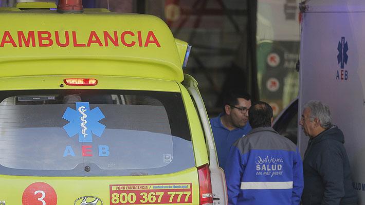 Tren de carga colisiona contra ambulancia en Estación Central: dos personas resultaron heridas