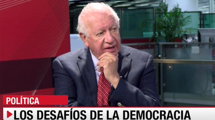 """Ricardo Lagos: """"El sueño del chileno es ser tratado con dignidad"""""""