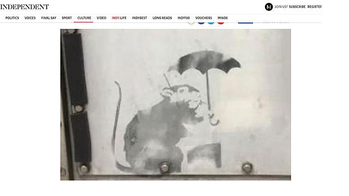 Exhiben en Tokio obra atribuida al misterioso Banksy: autoridades intentan comprobar su autenticidad