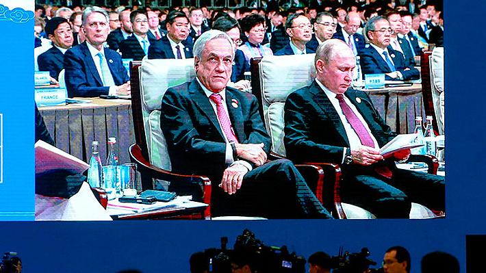 """En su tercer día en China, Piñera critica el proteccionismo económico: """"Estoy convencido que no es la solución"""""""