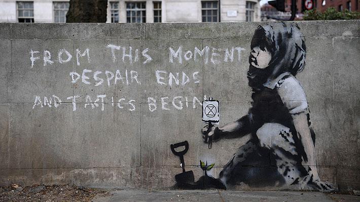 Ahora en Londres: Descubren obra con mensaje ecologista que podría ser de Banksy