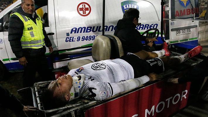 La violenta patada que recibió Gabriel Suazo y por la que debió ser retirado en ambulancia del Monumental