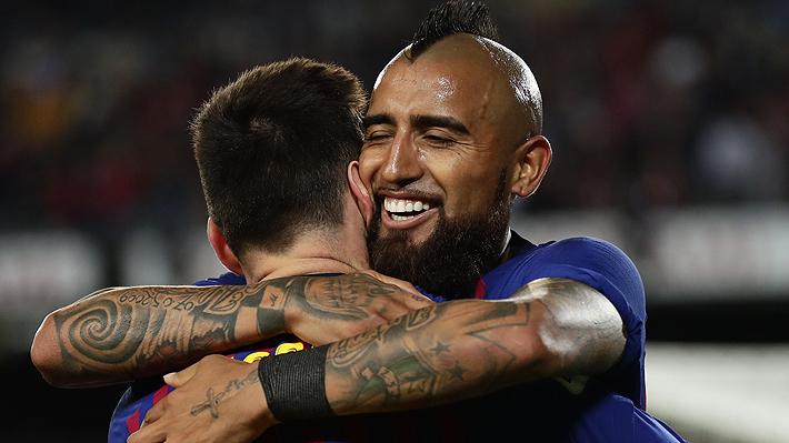Vidal jugó un gran partido y aportó una asistencia en triunfo del Barcelona que se proclamó campeón de la Liga de España