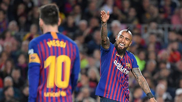 Revisa las mejores postales que dejó el título de liga conseguido por el Barcelona de Arturo Vidal