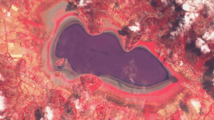 Satélite evidencia preocupante sequía en la laguna Aculeo: Observa cómo se secó en los últimos tres años