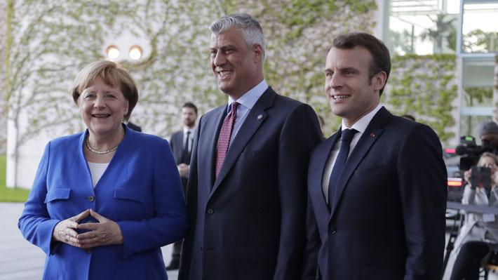 Macron y Merkel se reúnen con líderes de países balcánicos para buscar el retorno al diálogo entre Serbia y Kosovo