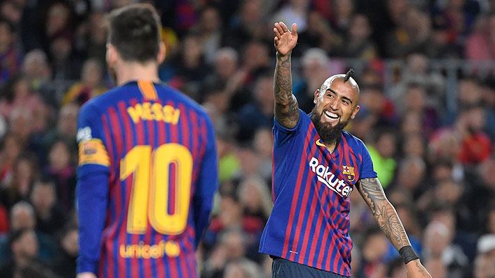 """En Barcelona se rinden ante Arturo Vidal, """"el Rey de las Ligas consecutivas"""""""