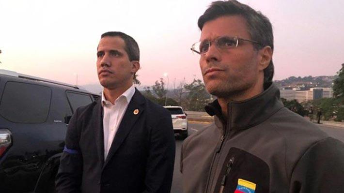 Galería: Imágenes muestran a Leopoldo López libre en Caracas