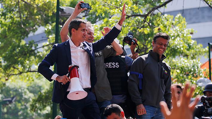 """Juan Guaidó: """"Hoy nos queda claro que las FF.AA. están con el pueblo de Venezuela y no con el dictador"""""""