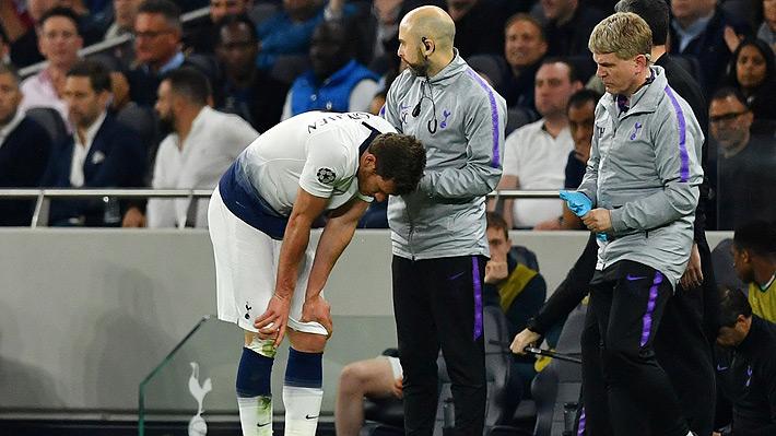 El dramático momento que protagonizó un defensa del Tottenham tras sufrir un duro choque en el duelo ante Ajax
