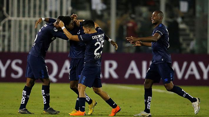 Mira el gol con el que Colo Colo perdió ante la UC de Ecuador en la Sudamericana