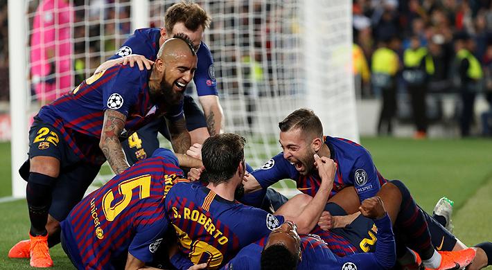 Con partidazo de Vidal y un Messi iluminado, el Barcelona venció al Liverpool y quedó con un pie en la final de la Champions