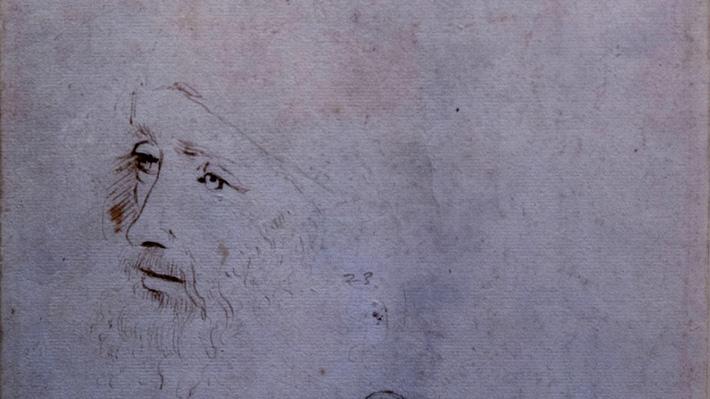 Revelan inédito retrato de Leonardo Da Vinci: habría sido realizado por un ayudante poco antes de su muerte