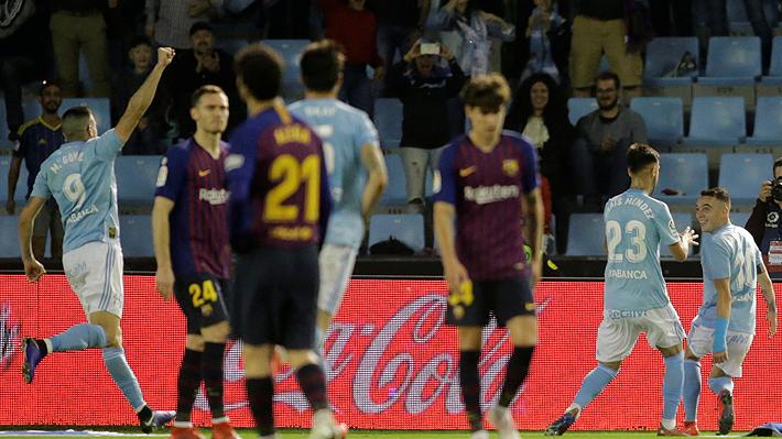 Barcelona con equipo alternativo y Vidal en el segundo tiempo, cayó sorpresivamente ante el Celta por Liga de España